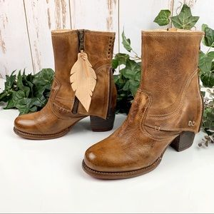 Bed Stü Brown Leather Iris Boots NWT 8 Rustic Zip